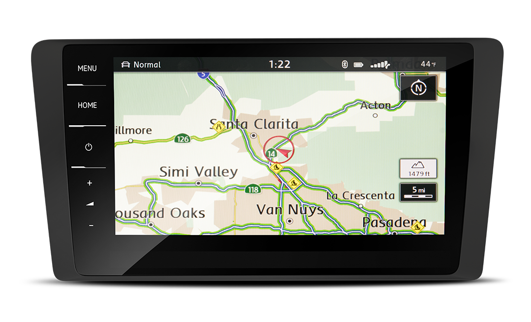 Available Discover Pro touchscreen navigation