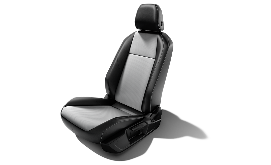 Available Two-tone leatherette seat