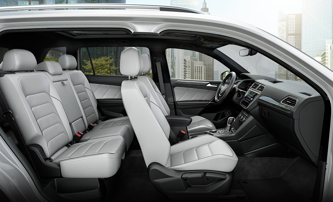 Interior in available Storm Gray Vienna Leather