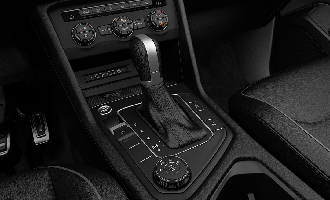 Shifter in available Titan Black Vienna Leather